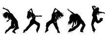 Female Urban Dance Moves Silhouette