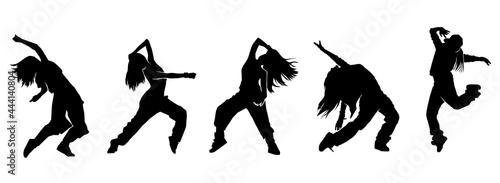 Fotografering female urban dance moves silhouette