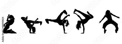 Foto female urban dance moves silhouette