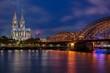 Dom Köln Mit Hohenzollernbrücke