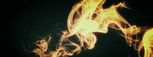 燃え上がる火のイラスト