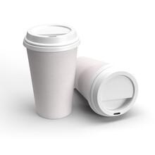 Vasos De Café Sobre Fondo Blanco