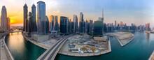 Panoramic View Of Dubai Water Canal