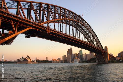 Fototapeta Sydney Opera House And  Harbor At Sunset
