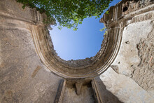 Dome Of The San Bonaventura Church At Ancient Monterano .a Ghost City Which Gained Popularity .