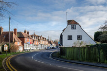 Biddenden High Street With Historic Timber Houses