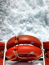 Red Life Saver Looking At Sea