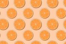 Hand Drawn Orange Fruit Seamless Pattern Design