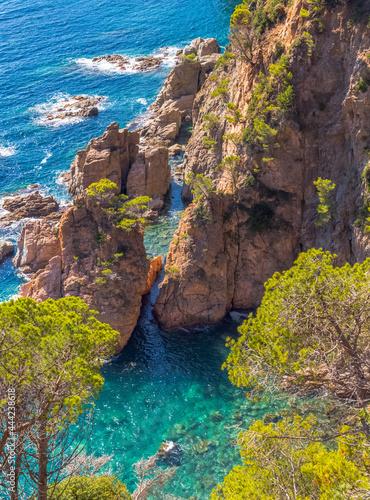 Fotografiet Falaises de Tossa de Mar, Costa Brava, Espagne