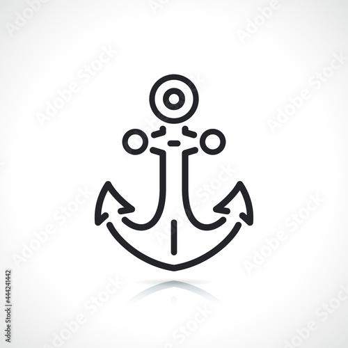 Foto boat anchor thin line icon