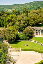 External View Of The Garden Of Miramare Castle, In The City Of Trieste (Northern Italy). It Was Built Between 1856 And 1860 Along The Shores Of Adriatic Sea.