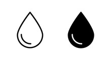 Water Drop Icon Vector For Web, Computer And Mobile App