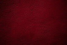 Crimson Colored Wall Background With Textures Of Different Shades Of Crimson Red