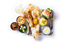 Three Curries, Naan, Seekh Kebab, Tikka