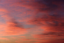 Colorful Dramatic Sky. Nature Background. Soft Focus