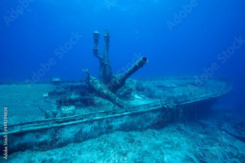 Murais de parede Wreck of the Austin Smith, Exuma Islands, Bahamas