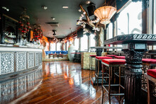Interior Of Spacious Bar At Daytime