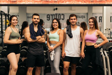 Friends Portrait In A Gym