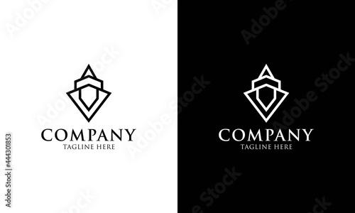 Fotografiet Temple,monument logo design vector illustration.