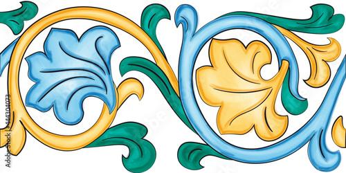 Fotografie, Obraz Ceramiche artistiche di Caltagirone Sicilia Italia Mattonelle Scala Matrice Scal
