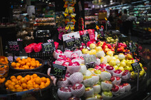 Fruits And Vegetables At Market