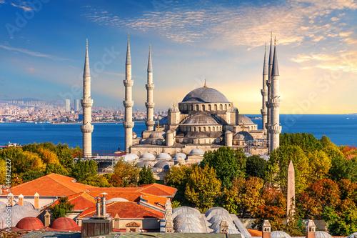 Blue Mosque of Istanbul, famous place of visit, Turkey Tapéta, Fotótapéta