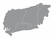 West Sussex County Administrative Map