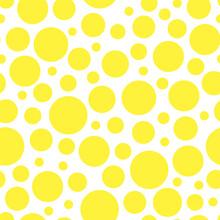 Seamless Pattern Yellow Dots Background Vector Illustration
