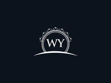 Luxury WY Letter, Initial Black Wy Logo Icon Vector For Hotel Heraldic Jewelry Fashion Royalty With Brand Identity And Print Template Image