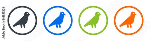 Fotografia Bird icon set. Vector illustration