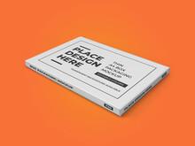 Thin A4 Box Packaging 3D Illustration Mockup Scene