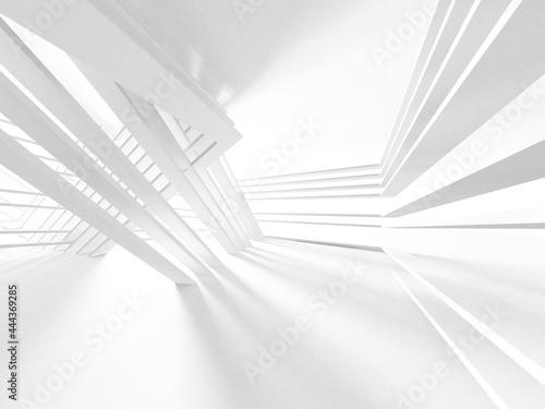 Fototapeta Illuminated corridor interior design