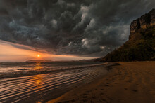 A Coming Storm On The Pai Plong Beach In Thailand