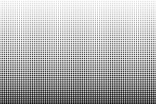 Dot Perforation Texture. Dots Halftone Pattern. Faded Shade Background. Noise Gradation. Black Pattern Isolated On White Background For Overlay Effect. Design Comic. Gradient Grunge Points. Vector