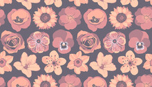 Vectors Floral Seamless Pattern For Decorating.