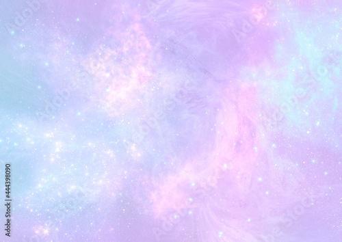 abstract pastel pale blue pink galaxy nebula background