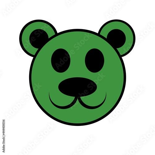 Cartoon Bär Icon grün