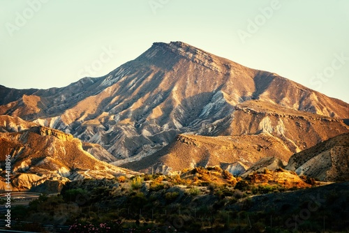 Stampa su Tela Mount Alfaro rises above the Tabernas desert and appears in numerous advertisements and movies