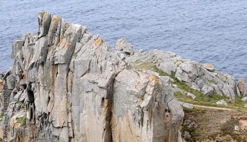 Fotografiet Les falaises à la pointe du Millier en Finistère Bretagne France