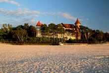 Zamek W Łebie Przy Nadmorskiej Plaży