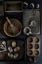 Collection Of Vintage Kitchen Bakeware