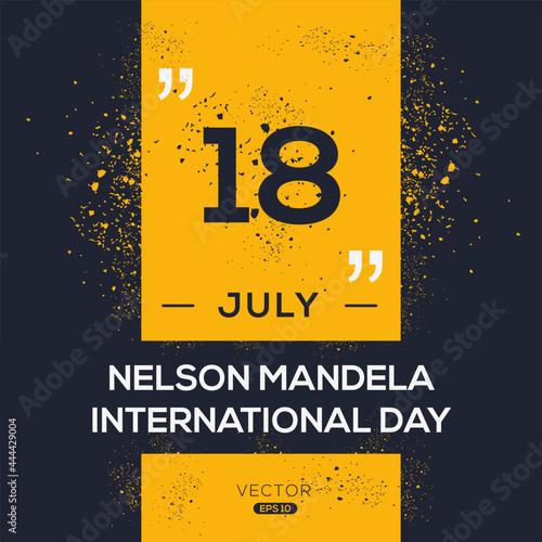 Creative design for (nelson Mandela international day), 18 July, Vector illustration Fototapeta