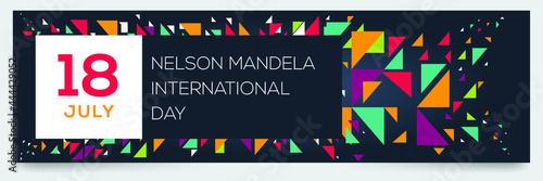 Fotografia Creative design for (nelson Mandela international day), 18 July, Vector illustration