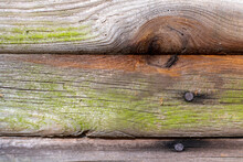 Mossy Old Wood Texture Of An Abandoned Barn With Rusty Nails ~WEATHERED~