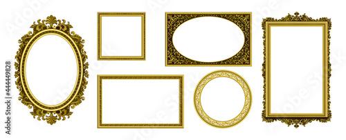 Billede på lærred Golden picture frames