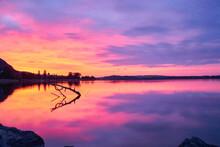 Sunrise Over Biel/Bienne Lake, Switzerland