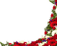Christmas Background Frame With Holly Berries And Holly Isolated On White Background With Clipping Path