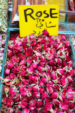 Red Rose Tea Made From Organic Dried Roses Is Ready For Sale At The Spice Shop.