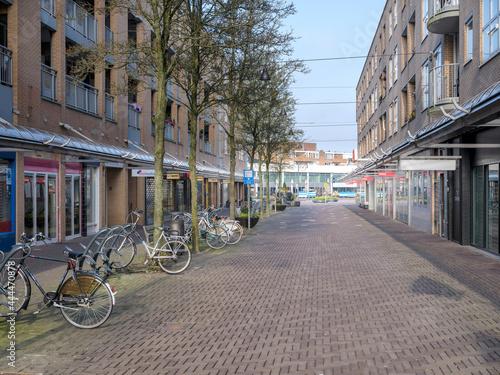 Fotografia, Obraz Winkelstraat in het centrum van Lelystad, , Flevoland Province, The Netherlands