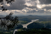 Landscape View Of Lake Lure, NC From Chimney Rock State Park